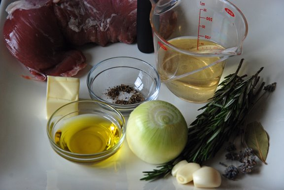 Ingredients for Lavender and Rosemary Pork Tenderloin