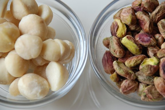 Macadamia Nuts and Pistachios