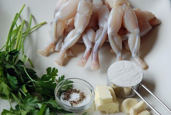 Cuisses de Grenouille aux Herbes (Herbed Frog Legs) mise en place