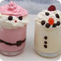 Santa and Snowman Milkshakes