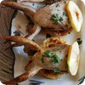 Cailles à la Normande (Quail with Cream and Apples)