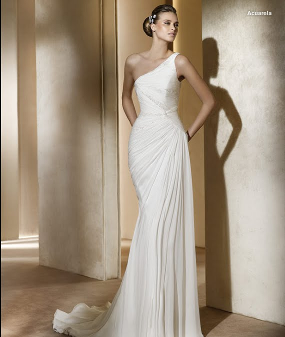 todo sobre bodas: vestido de novia acuarela pronovias 2011 colecciÓn
