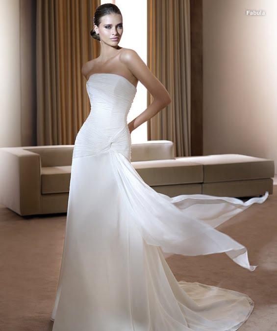 todo sobre bodas: vestido de novia fabula pronovias 2011 colecciÓn