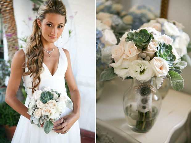 Gorgeous Wedding Hair and bridal bouquet