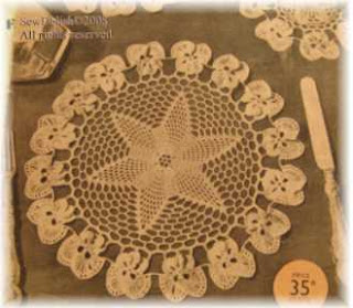 star and flower doily