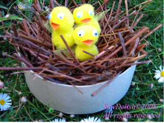 Easter Chicks in Nest Waiting for Tucker ideas for kids to make Project