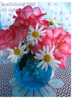 Water Crystals Flowers Vase