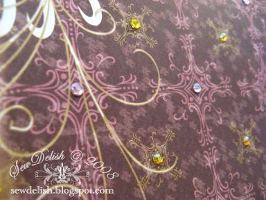 make card rhinestones embossing powder bling