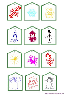 Free Printable Christmas Tags Colouring Pages