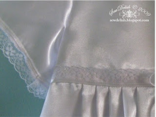 Christening gown dress lace ribbon sew make