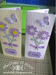 Cricut expression Cuttlebug provocraft embossing folder cartridge card butterfly emboss