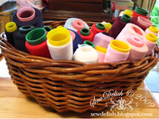 Spools Sewing Machine and Overlocker Thread Storage in Basket