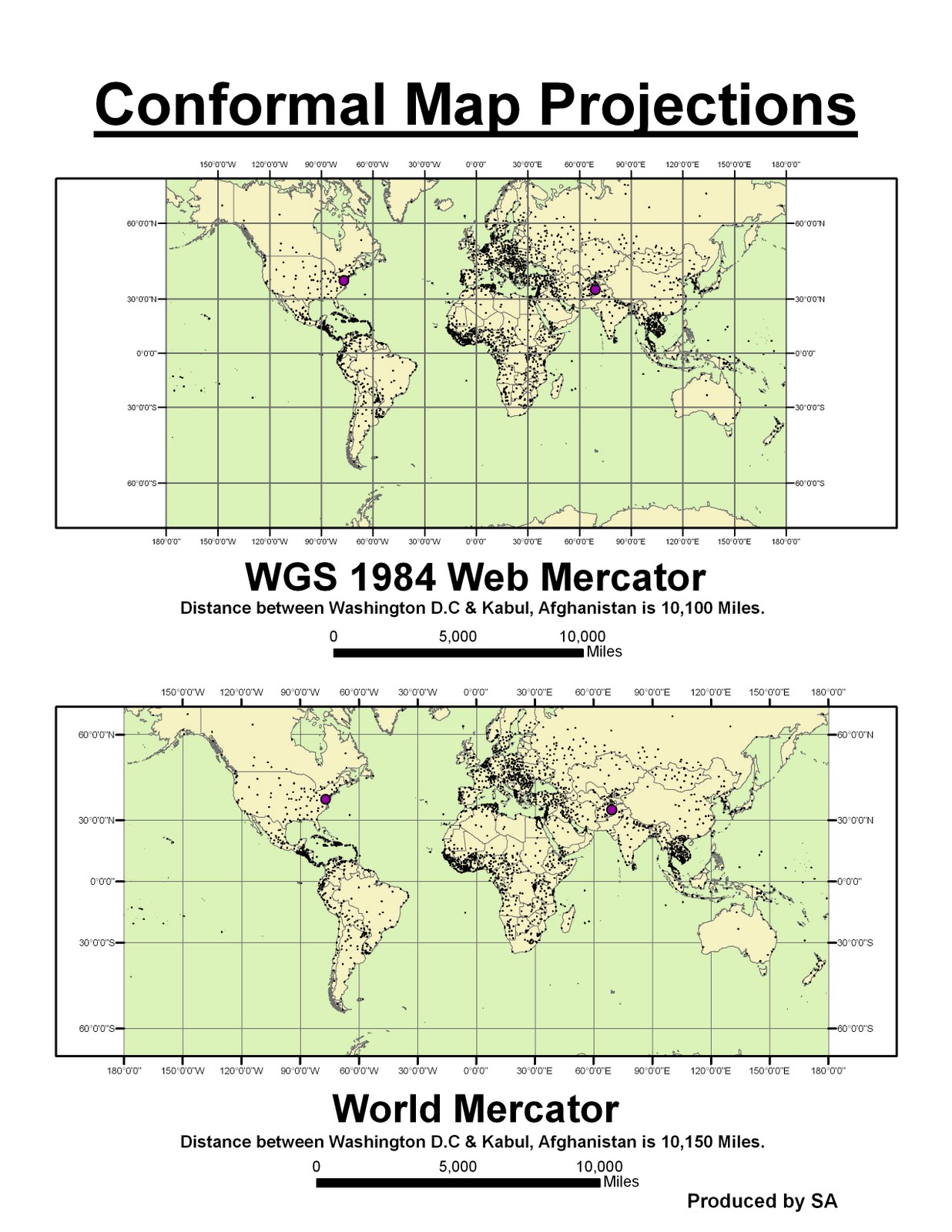 conformal map projection A map projection is conformal when at any point the scale is the same in every direction therefore, meridians and parallels intersect at right angles and the shapes of very small areas and angles with very short sides are preserved.