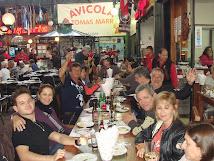 Almoço no Mercado em Santiago