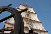 ThePicture of the sails on the U.S. Coast Guard Cutter Eagle