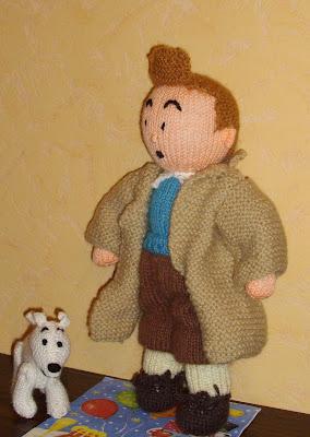 Du tricot et des jouets jeune homme et son petit chien - Tintin gratuit ...