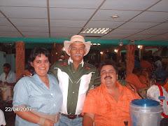 Juan Chichito Pinto,Lourdes Contreras y Jesús G.Cermeño