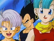 Vegeta, Bulma y Trunks