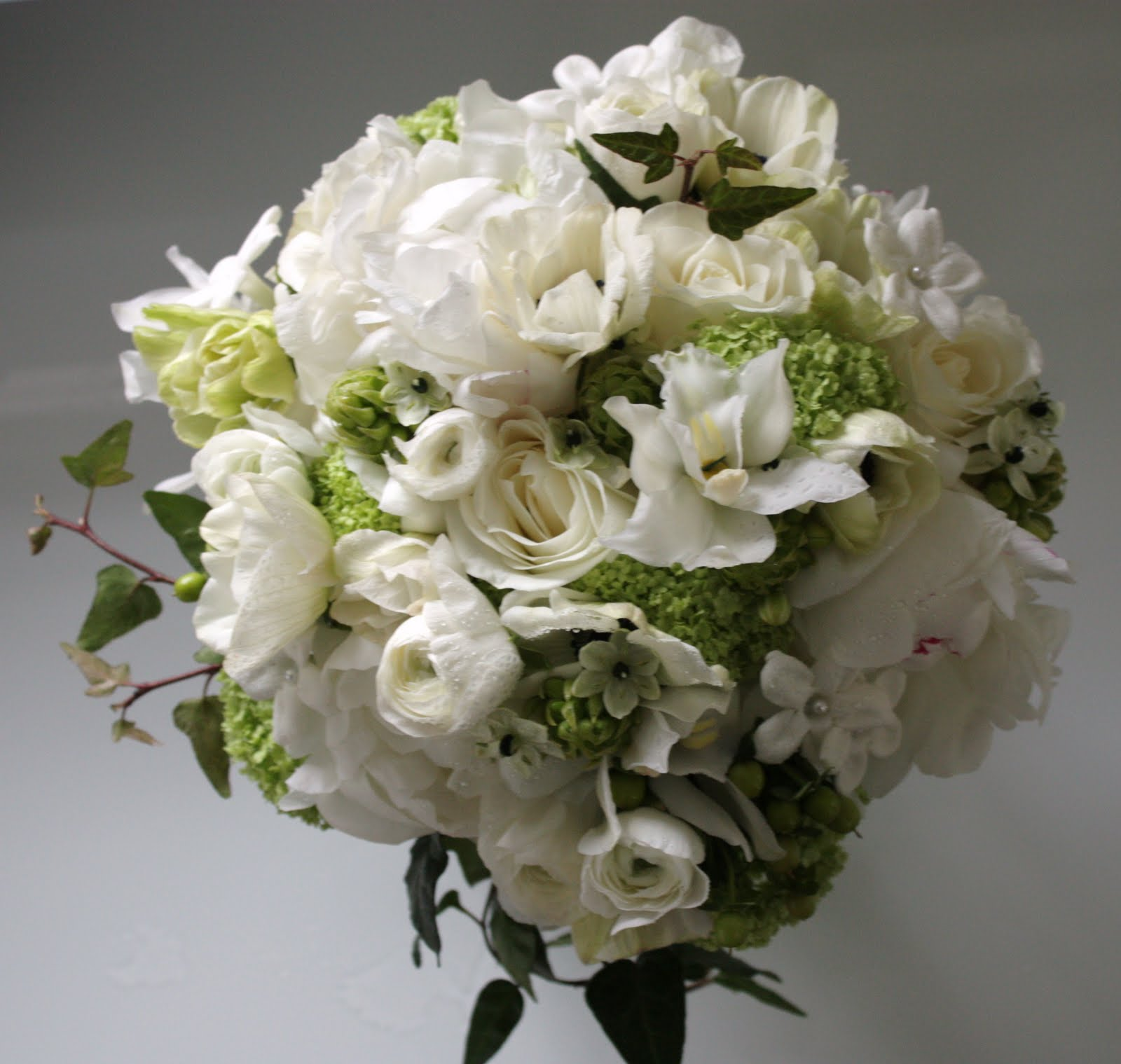 Blush floral design november 2009 as white peonies ranunculus green hydrangea white anemones green parrot tulips lisianthus curly willow branches roses and other seasonal flowers mightylinksfo Image collections