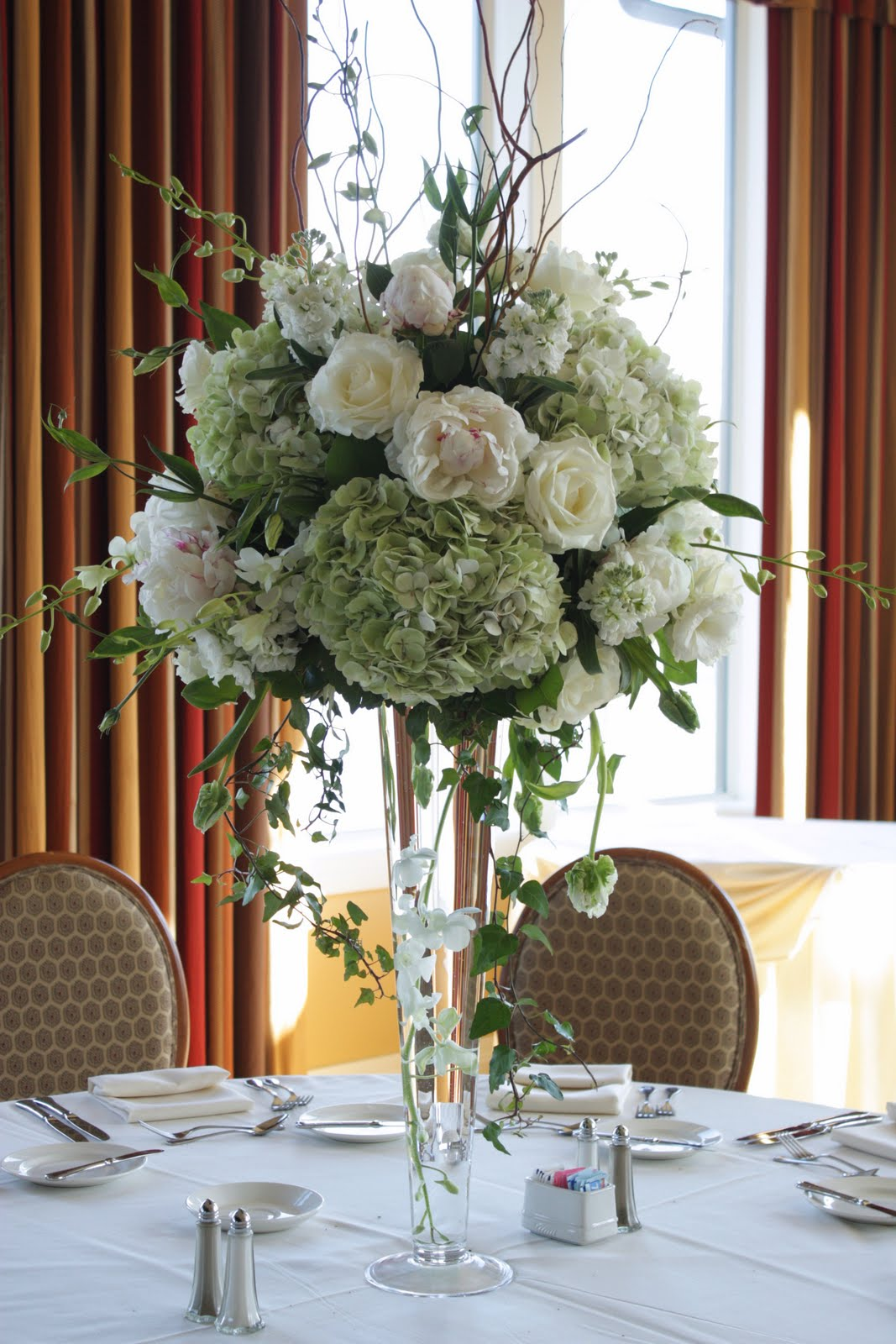 Wedding special tall flower centerpieces
