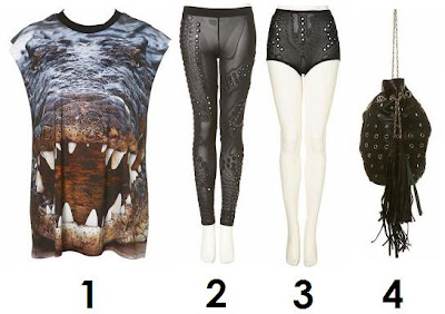 christopher kane, crocodile shirt, mirror leggings, embellished leggings, eyelet, eyelet handbags