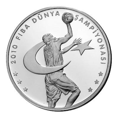 2010 FIBA Hatıra Parası - Ön yüz / Tuğra = Tura yüzü