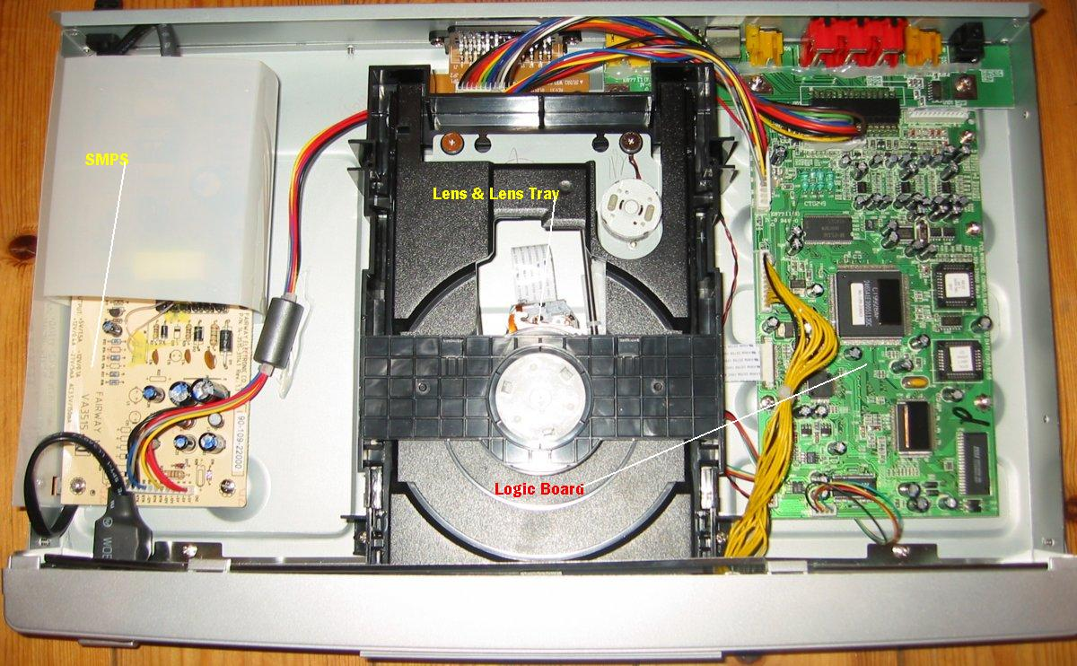 Optical storage disk player dvdvcd etc repair electronic here is another opened player ccuart