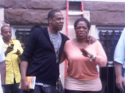 Jay z on the grind to market his new album blueprint 3 urban radio heres kanye west rihanna and jay z on the set of the video shoot for the albums main lead single run this town malvernweather Images