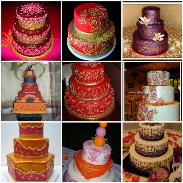 Mehndi Inspired Cake : Oliveaire south asian events mehndi inspired wedding cakes
