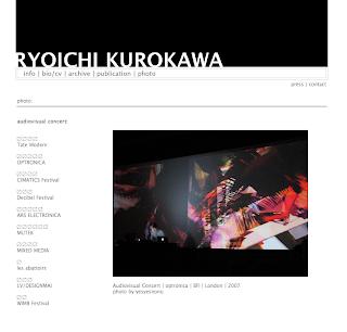 Ryoichi Kurokawa - Japan - audiovisual artist