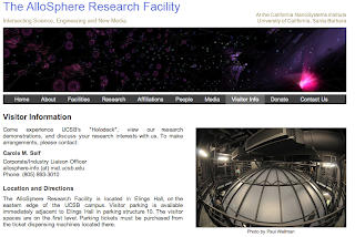 AlloSphere Research Factility - Interecting Science, Engineering and New Media