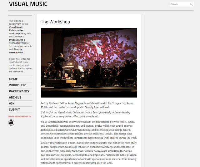 Summer School Masterclass: Visual Music Collaborative Report