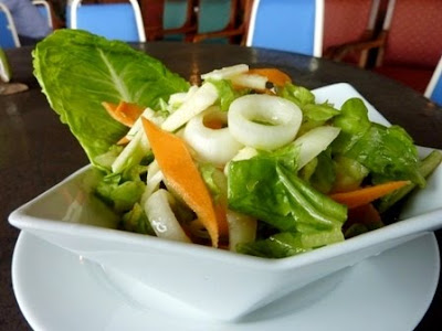 Salad dish from Kasih Sayang Resort