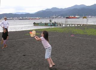 ビーチテニスの子供