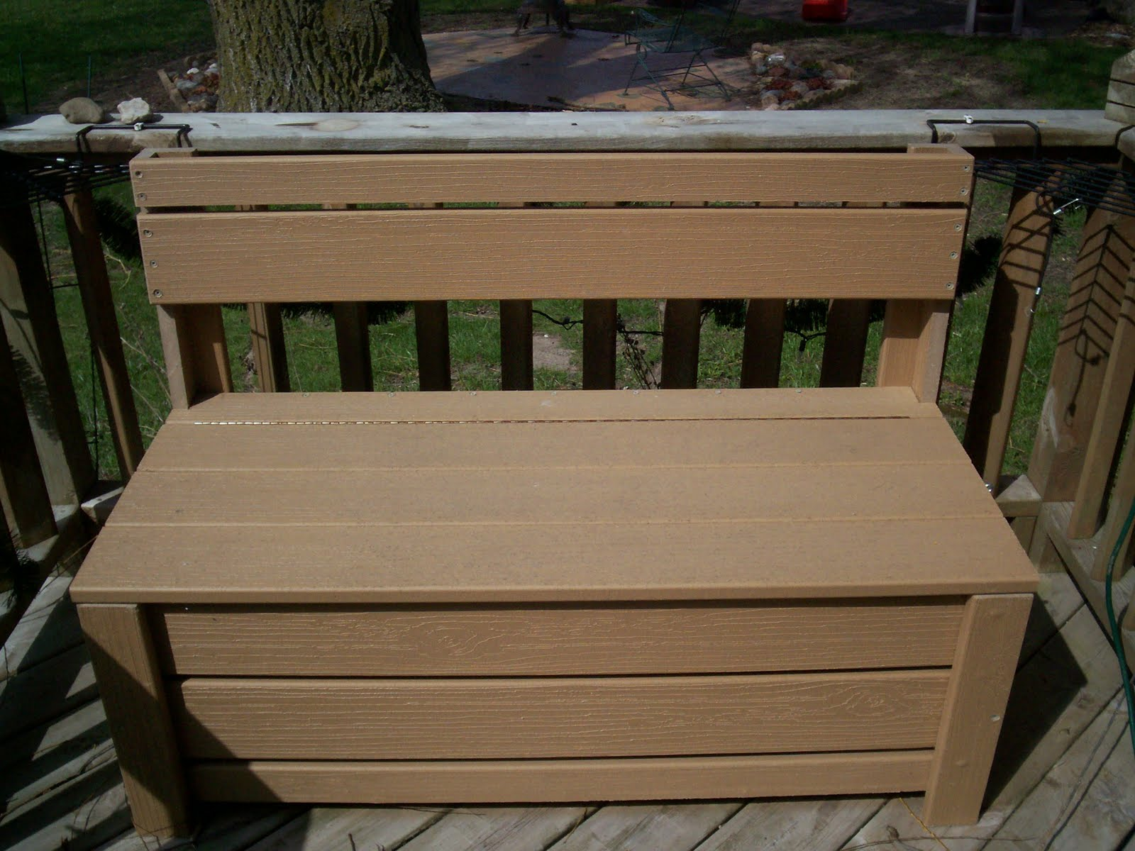 Tru tales feats deck storage bench Deck storage bench