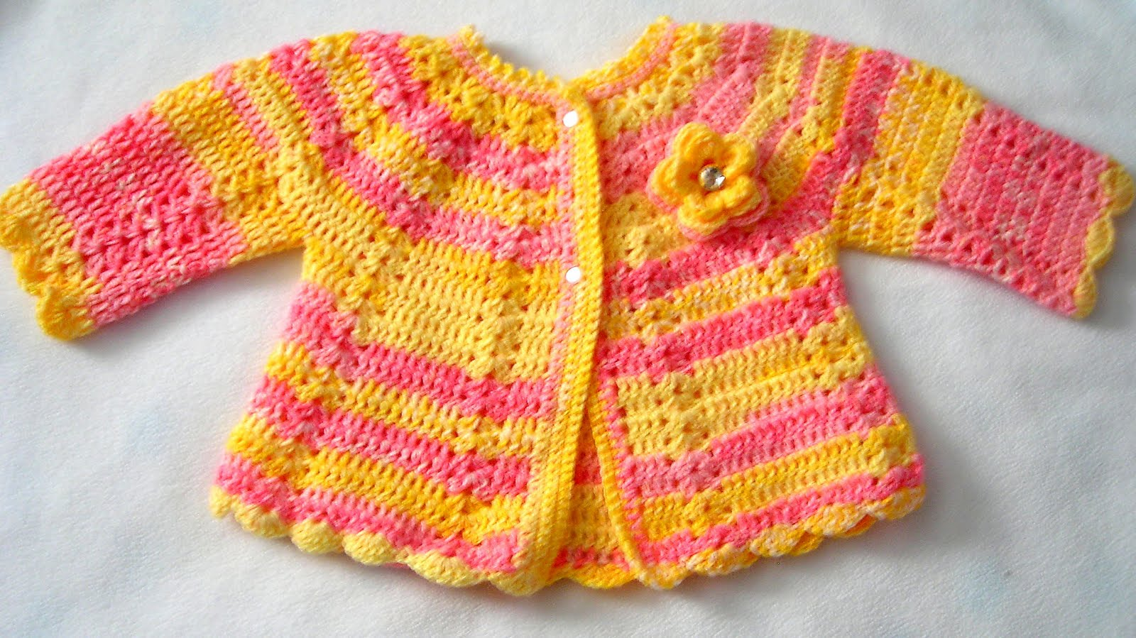 Crochet Baby Sweater : Crafts and Crocheting: Crocheted Baby Sweaters