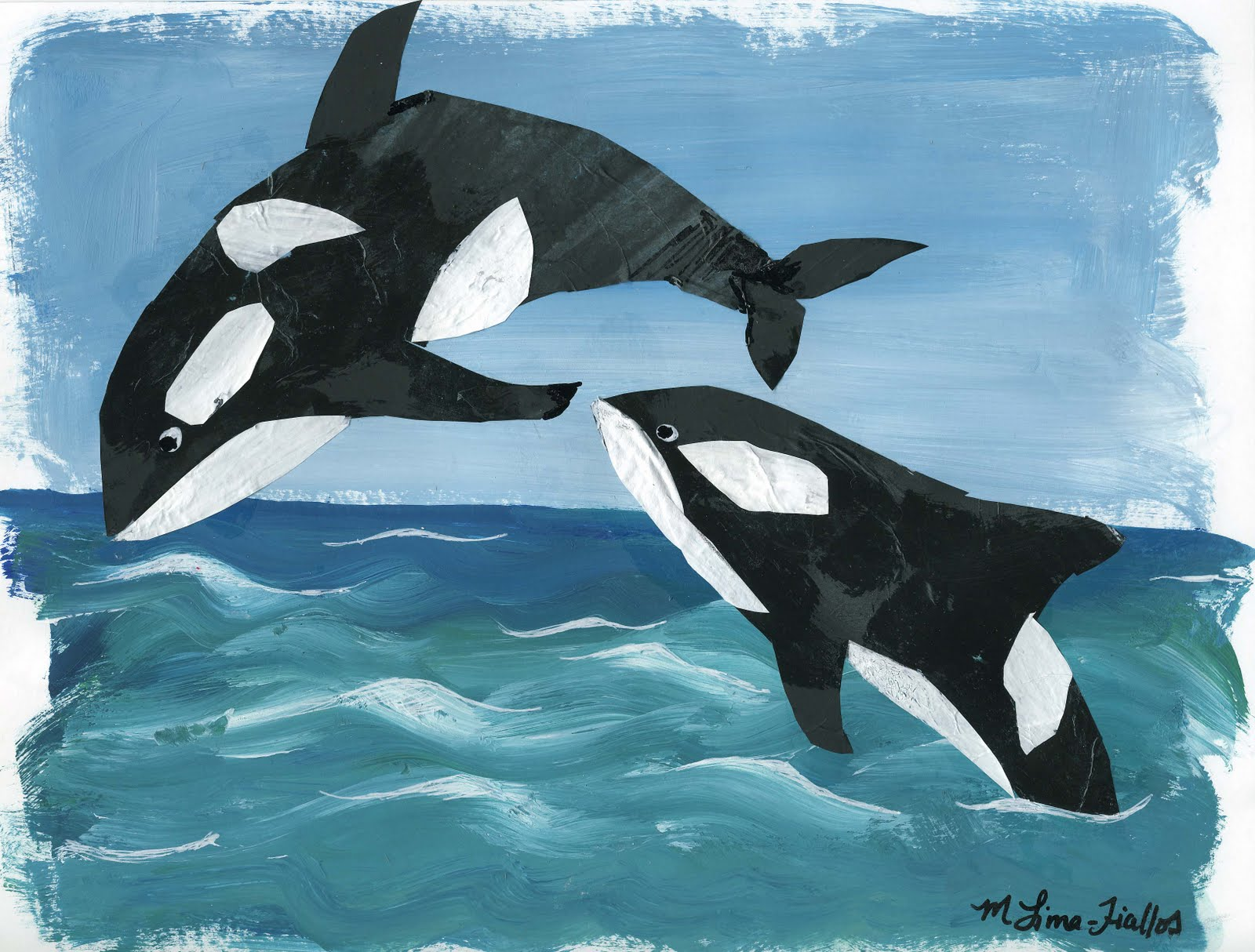 gifts of creation artist blog killer whale collage