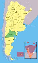 UBICACION DE RIO NEGRO en argentina