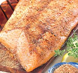 Cedar Plank Grilled Salmon with Lemon Paprika Butter, Mustard Seed ...