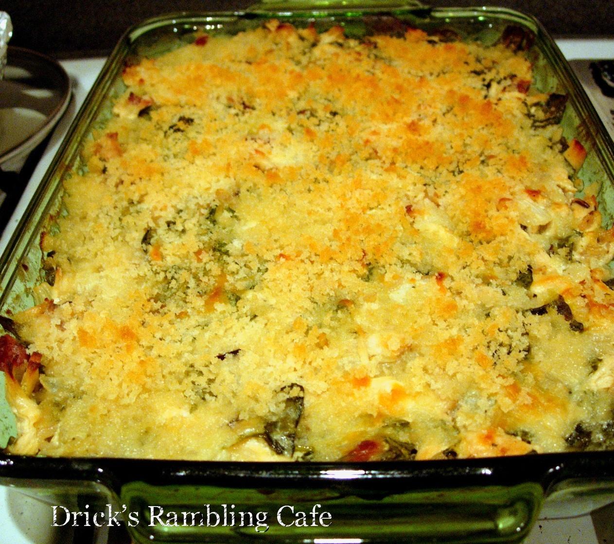 Chicken Florentine Wild Rice Casserole | Drick's Rambling Cafe