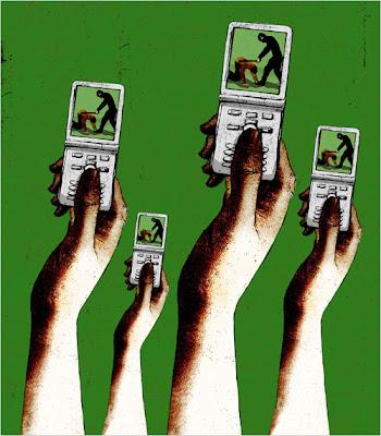 iran uprising media cell phones