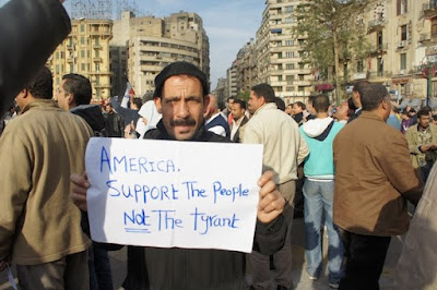 egypt protest support people not mubarak