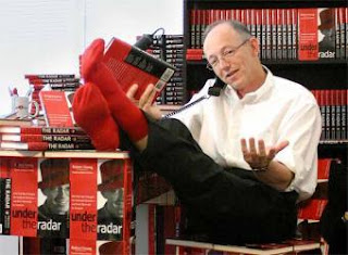 Bob Young - founder of Lulu - and furniture made from unsold books!