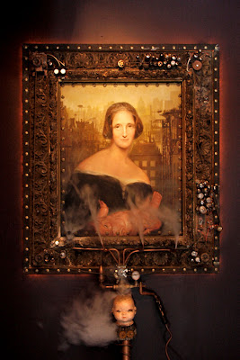 Mary Shelley as Steampunk Shelley