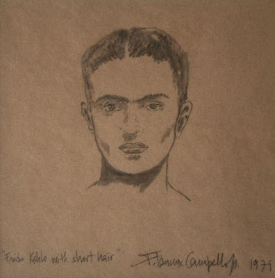 Frida Kahlo with short hair by F. Lennox Campello