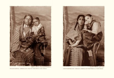 Traditional American Indian Mother and Child/Contemporary Indian American Mother and Stepchild