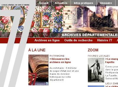 Archives de Seine-et-Marne 77 en ligne
