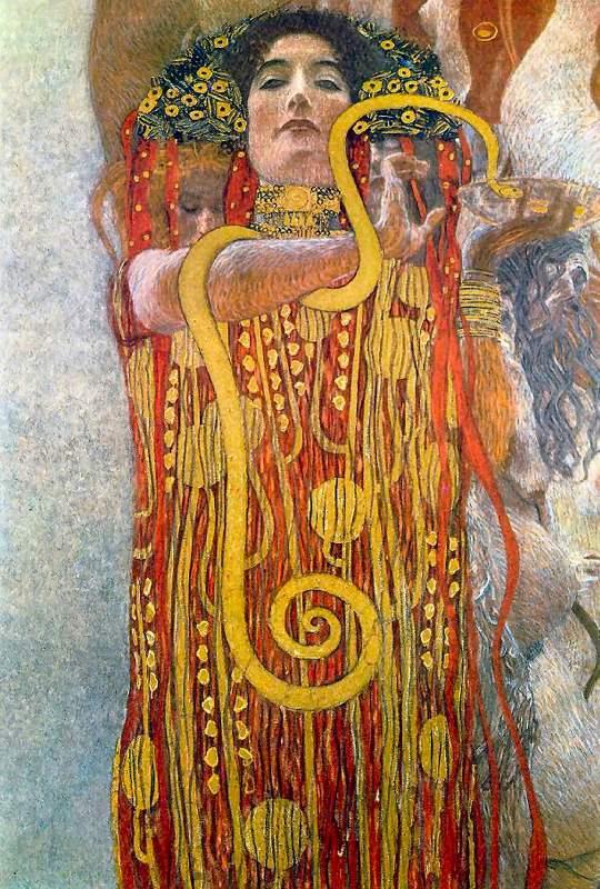 ไพ่ทาโรต์ Magician Hygieia Hygea Hygeia Medicine Gustav Klimt University of Vienna