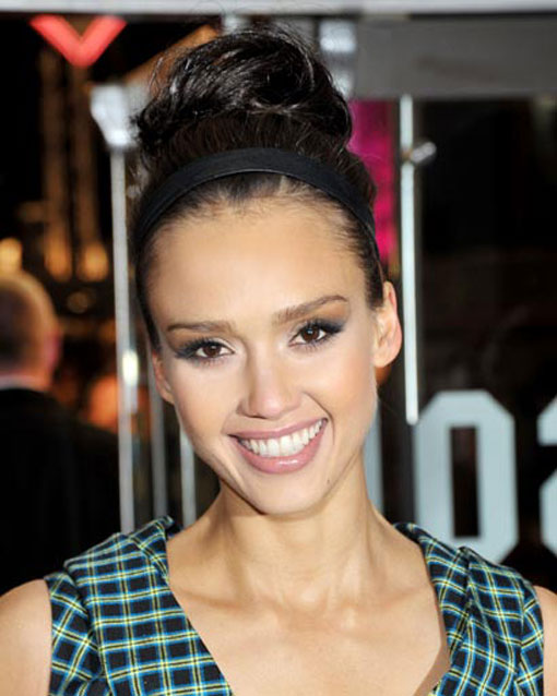 Lanvin's spring 2010 show made high buns chic—and Jessica Alba is just one