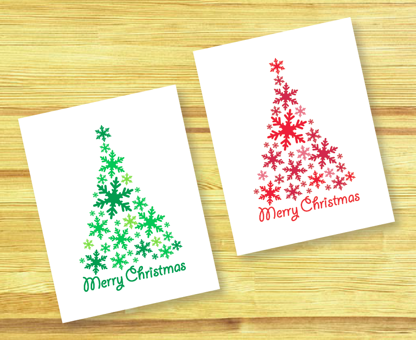 La esp tula roja diy christmas cards tarjetas de for Easy diy christmas cards